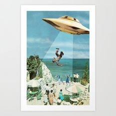 UFO Abduction Art Print