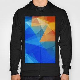 Blue Orange Polygon Abstract Hoody