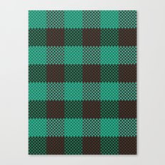 Pixel Plaid - Glacier Melt Canvas Print