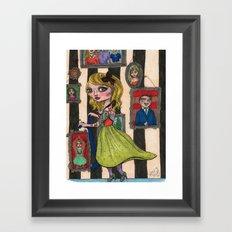 Pogo Stick Girl Framed Art Print