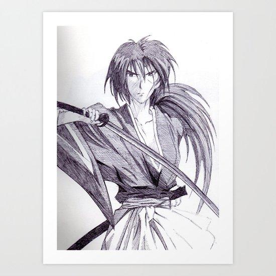 Rurouni Kenshin Art Print