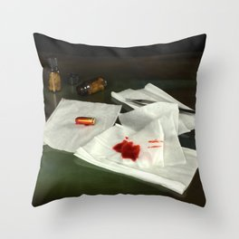 Bullet extraction Throw Pillow