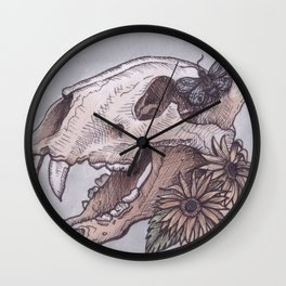 Brave Bones Wall Clock