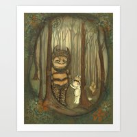 wild things Art Prints featuring Wild Things  by thepoppytree
