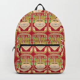 American Football Red and Gold - Enzone Puntfumbler - Sven version Backpack