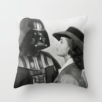 casablanca Throw Pillows featuring Darth Vader in Casablanca by Luigi Tarini
