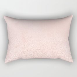 Blush Glitter Pink Rectangular Pillow