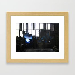 Steel Factory Framed Art Print