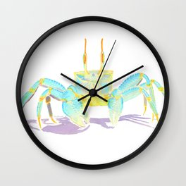 Turquoise Crab Wall Clock