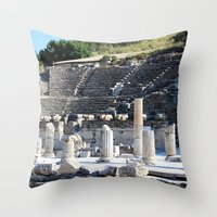 theater Throw Pillows featuring Theater  by Allisa Thome