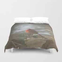 Winter's Cardinal Duvet Cover
