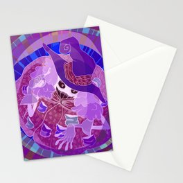 Negative Witch Stationery Cards