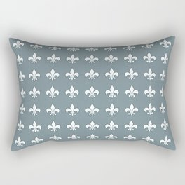 Aqua fleur de lis Rectangular Pillow