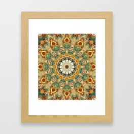 Flower Of Life Mandala (Sundial) Framed Art Print