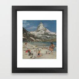 Matterhorn beach Framed Art Print
