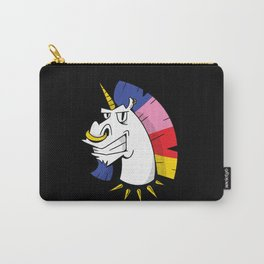 Punk unicorn with nose ring and colorful hair Carry-All Pouch