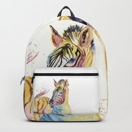 Colorful Zebra Backpack