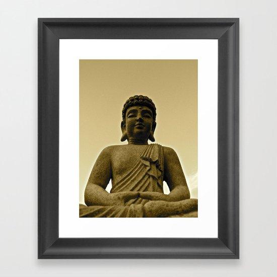 Buddha Prays Framed Art Print