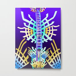 Fusion Keyblade Guitar #66 - X-Blade & Ultima Weapon Metal Print
