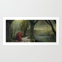 Labyrinth, Ludo, The Labyrinth, Concept Art Art Print