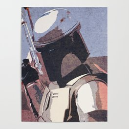 Bobba Fett | The Bounty Hunter | Star War Art Poster