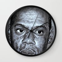 jay z Wall Clocks featuring JAY-Z by Jahwan by JAHWAN