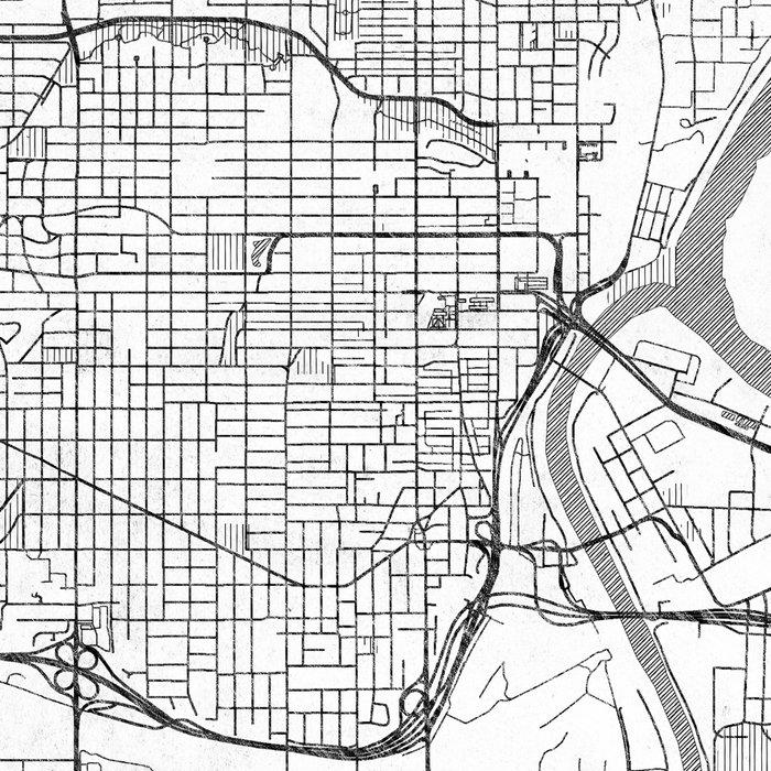 Kansas City Map Line Leggings