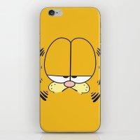 garfield iPhone & iPod Skins featuring Garfield Face by julien tremeau