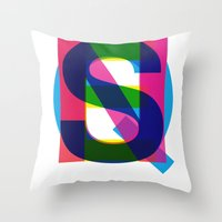 queens of the stone age Throw Pillows featuring Queens by Farnell