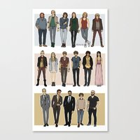 cargline Canvas Prints featuring Character Line Up by cargline