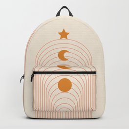 Abstraction_MOON_SUN_STARS_LINE_ART_Minimalism_001 Backpack