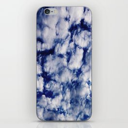 deep blue clouds iPhone Skin