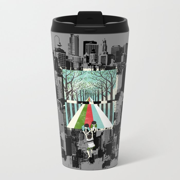Secret Garden Metal Travel Mug