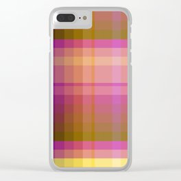 Complimentary Color harmony yellow/purple 2 Clear iPhone Case