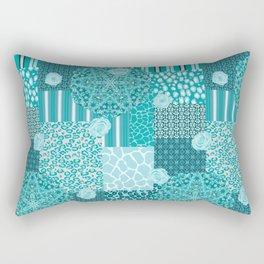 Kaleidoscopic Safari (Blue) Rectangular Pillow