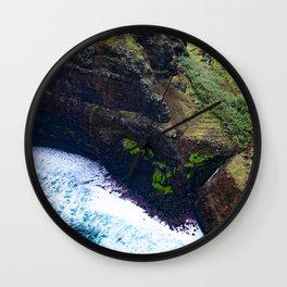 Coastal Cliffs Hawaiian Tropical Beach Wall Clock