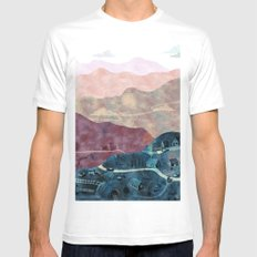 the village MEDIUM Mens Fitted Tee White