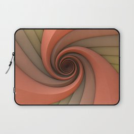 Spiral in Earth Tones Laptop Sleeve