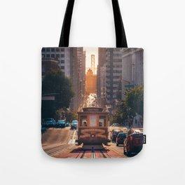 San Francisco Trolley (Color) Tote Bag
