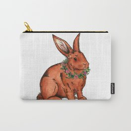 Flower Bunny Rabbit Carry-All Pouch