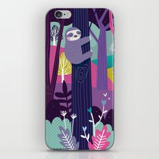 Sloth in the woods iPhone Skin