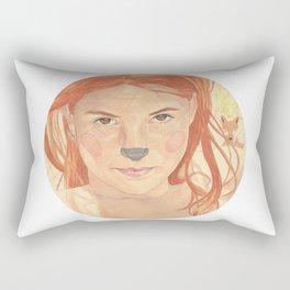 The fox girl Rectangular Pillow