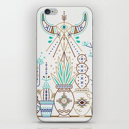 Santa Fe Garden – Turquoise & Brown iPhone Skin
