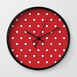 POLKA DOTS RED #minimal #art #design #kirovair #buyart #decor #home Wall Clock
