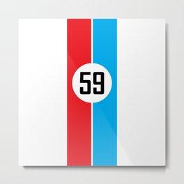 Brumos Racing Stripes Metal Print