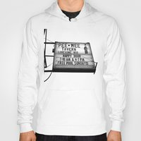 pee wee Hoodies featuring Pee Wee tavern sign by Vorona Photography