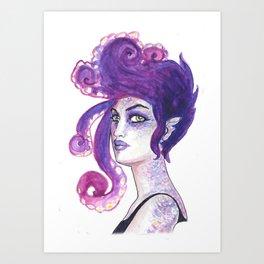 Punk Mermaid Art Print