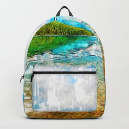 Two Medicine Lake USA. For Nature Lovers. Backpack