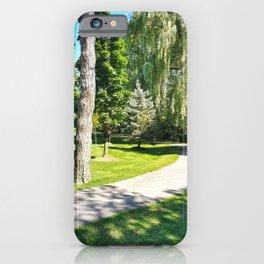 Walk in a Summer Park iPhone Case