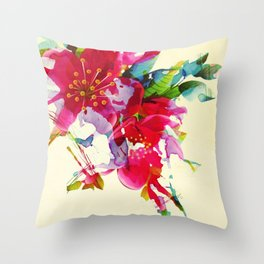 exploded floral Throw Pillow